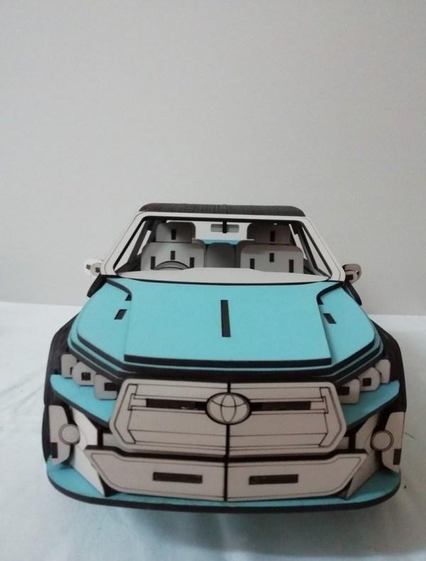 Wooden Toyota Car Cnc Cutting Free PDF File