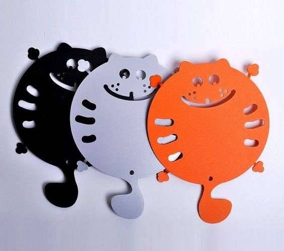 Laser Cut Coasters For Hot Dishes Kitties Free CDR Vectors Art