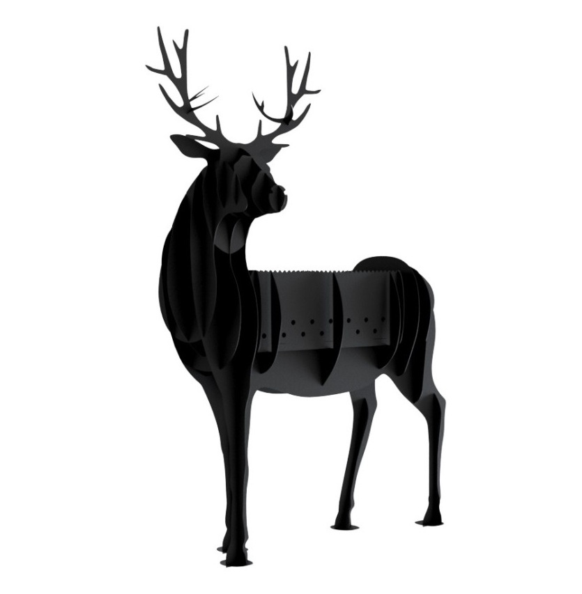 Laser Cut Barbecue Bbq Deer Free DXF File