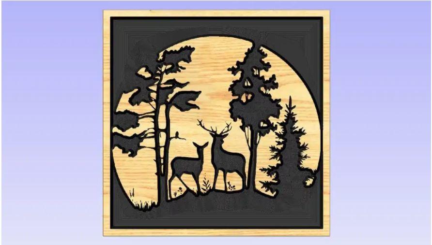 Deer Artcam Free DXF File