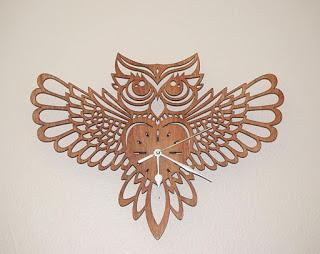 Laser Cut Owl Clock Design Vectors Free CDR Vectors Art