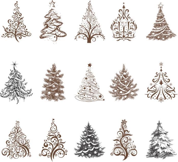 Decorative Tree Vectors Free CDR Vectors Art
