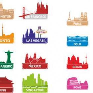 Laser Cut Travel Magnets Free CDR Vectors Art