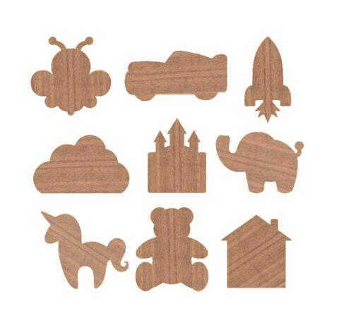 Laser Cut Wooden Magnets For Kids Free CDR Vectors Art
