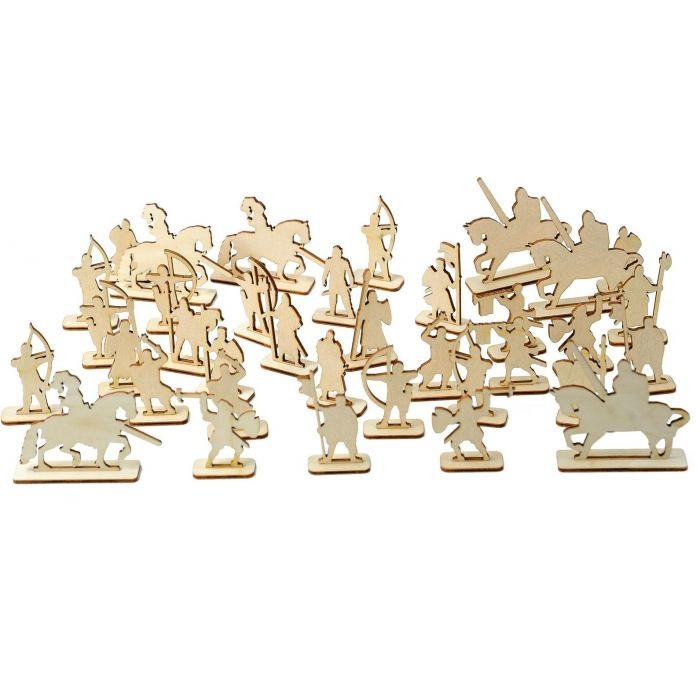 Laser Cut Army Toy Soldiers Miniature Figures Free CDR Vectors Art