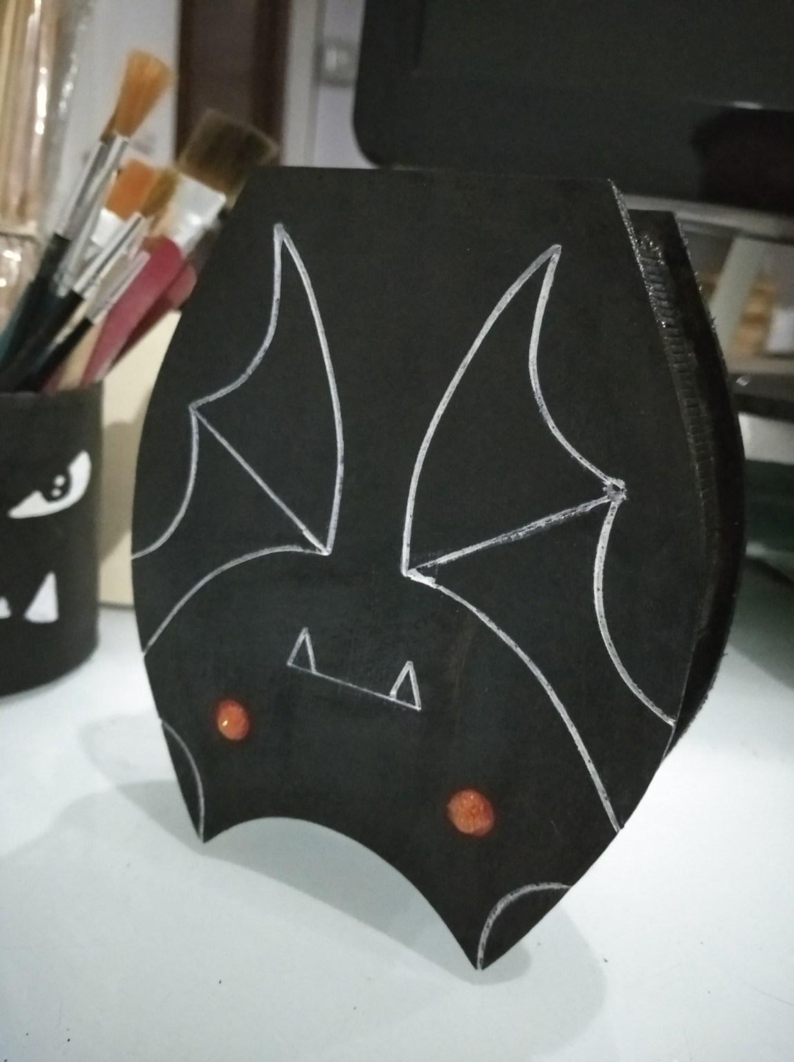 Laser Cut Bat Box Free CDR Vectors Art