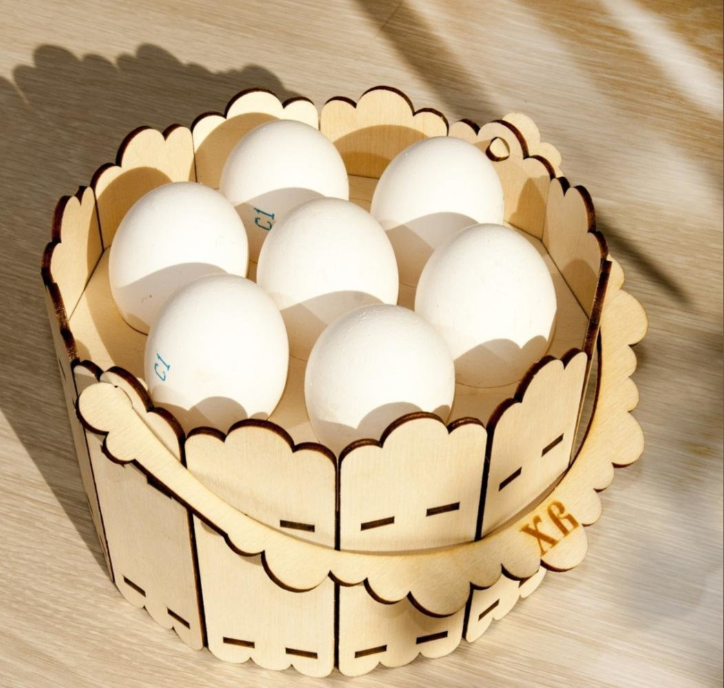 Laser Cut Universal Baskets For Easter Eggs Free CDR Vectors Art