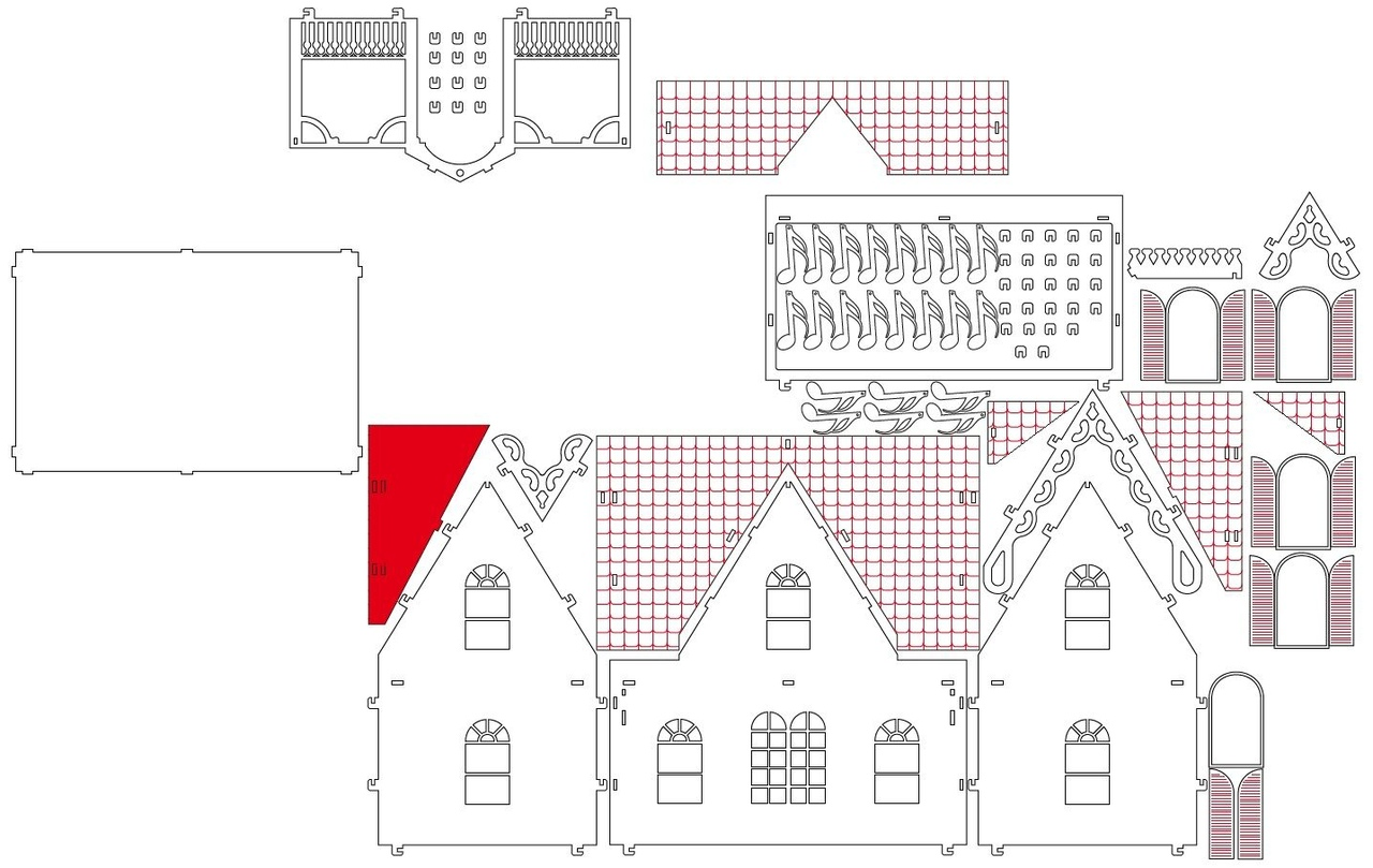 House Made Of Plywood Layout Drawings For Laser Cutting Free CDR Vectors Art