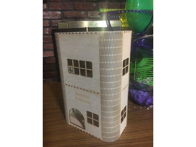 Laser Cut Hamster Play House Vector Free CDR Vectors Art