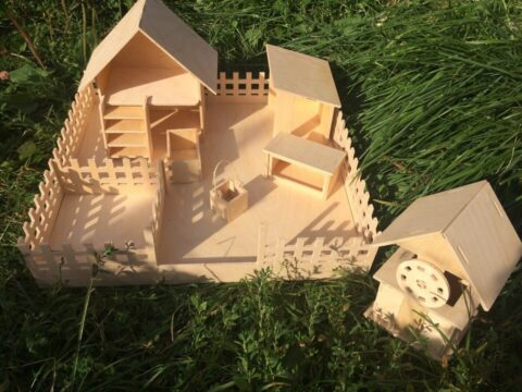 Laser Cut Wooden Kids Toy Farm Free CDR Vectors Art
