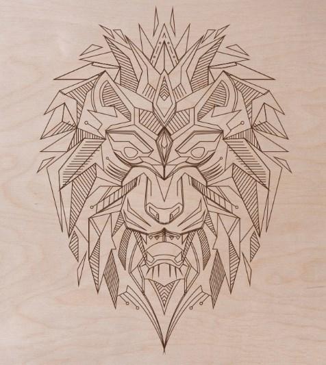 Laser Cut Engraving Lion Template Vector Free CDR Vectors Art