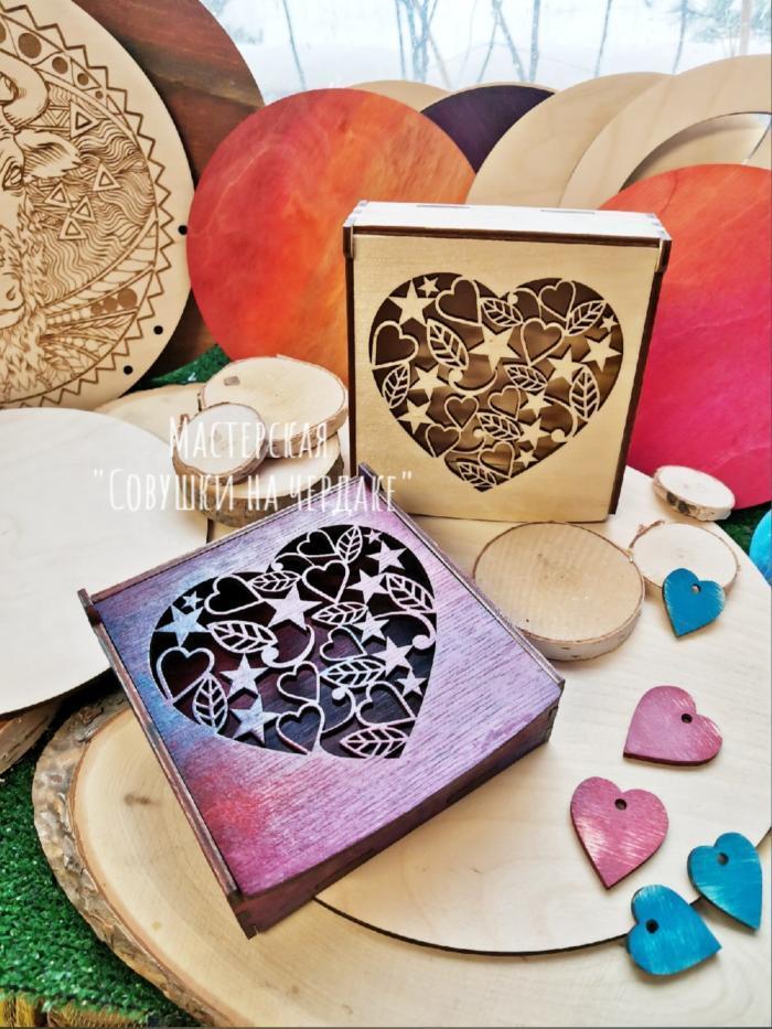 Laser Cut Boxes Heart Cut Free CDR Vectors Art