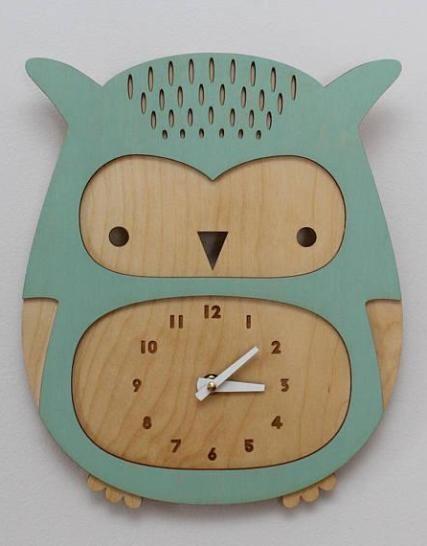 Laser Cut Owl Clock For Wall Decor Layout Free CDR Vectors Art