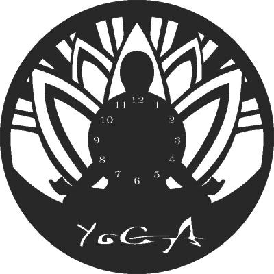 Laser Cut Yoga Clock Vectors Free CDR Vectors Art