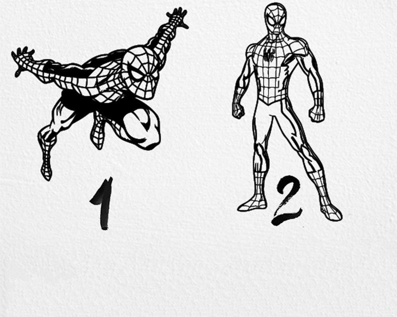 2 Pieces Spiderman Laser Cut Free CDR Vectors Art