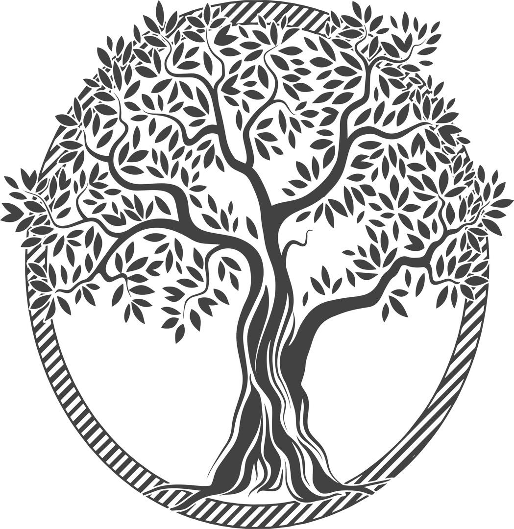 Laser Cut Tree Vector Free CDR Vectors Art