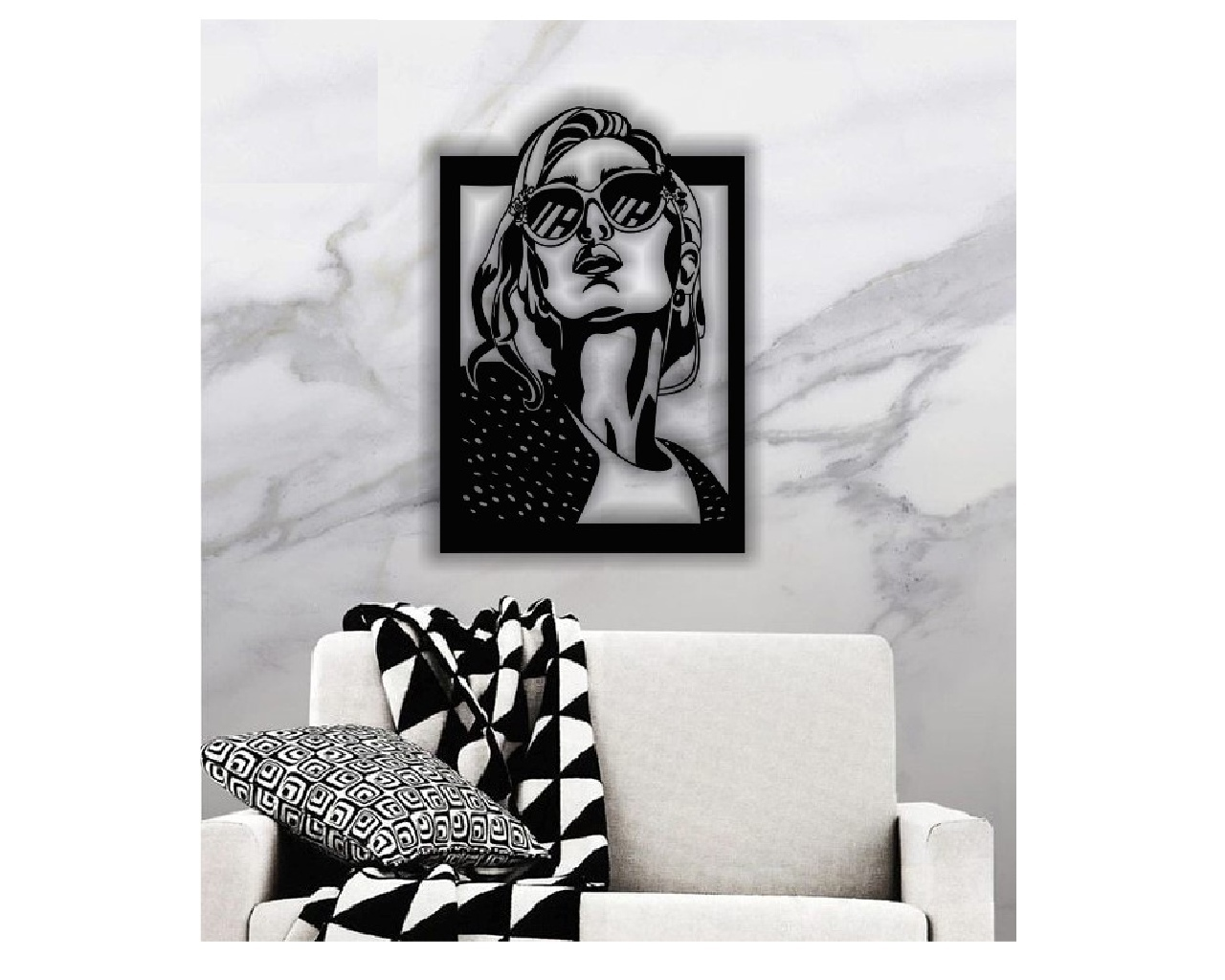 Layout Panel Woman With Glasses Free CDR Vectors Art