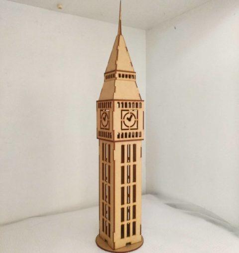 Laser Cut Big Ben Tower Free CDR Vectors Art