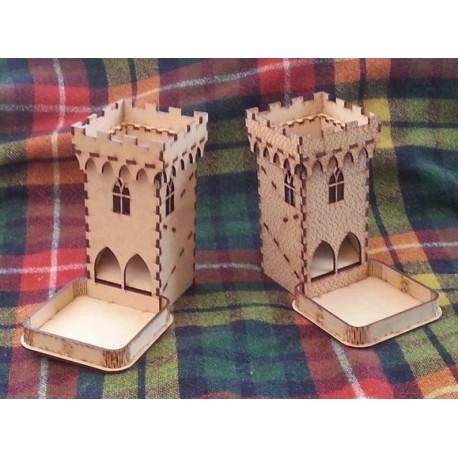 Laser Cut Wooden Dice Tower Template Free CDR Vectors Art