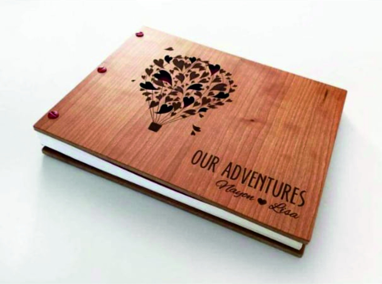 Laser Cut Notebook With Hearts Layout Free CDR Vectors Art