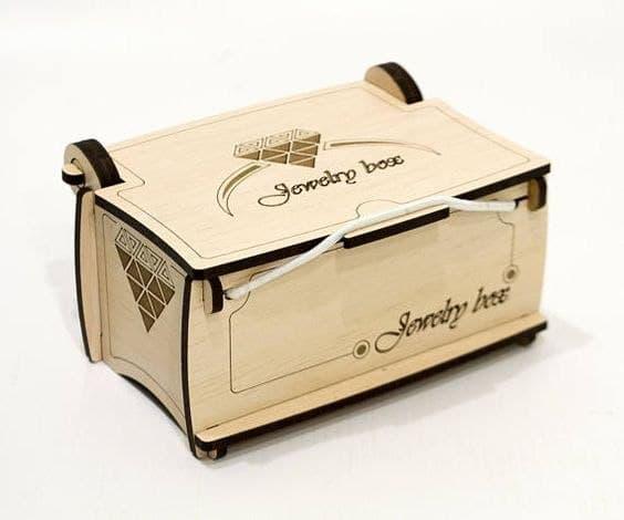 Laser Cut Jewelery Box Casket Layout Free CDR Vectors Art