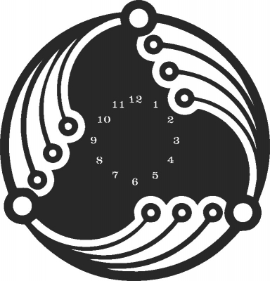 Laser Cut Wall Clock Plasna Free DXF File
