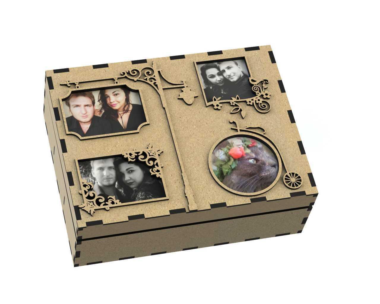 Foto Album Laser Cut Box Free DXF File
