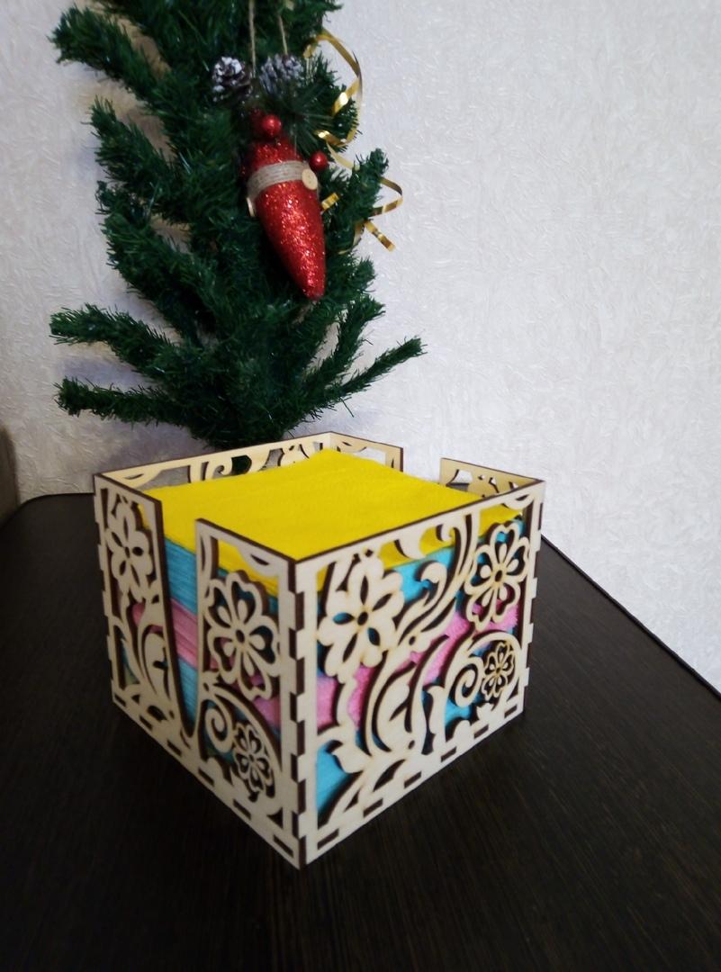 Laser Cut Wooden Napkin Box 3mm Free DXF File