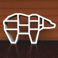 Shelf In The Shape Of A Bear For Books And Toys Free DXF File