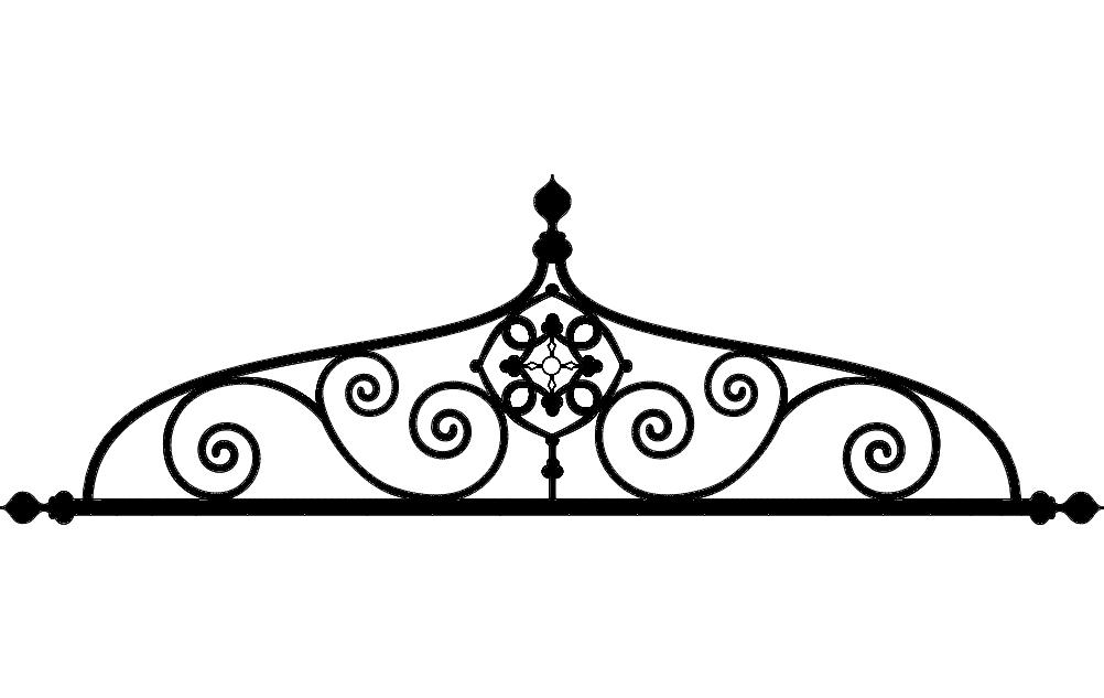 Laser Cut Ironwork Arch Design Free DXF File