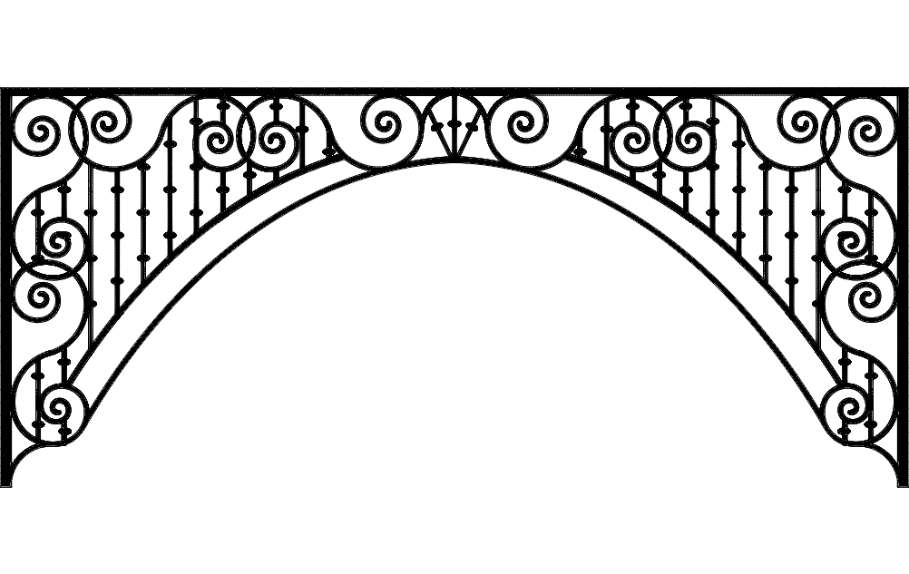 Laser Cut Ironwork Arch Free DXF File