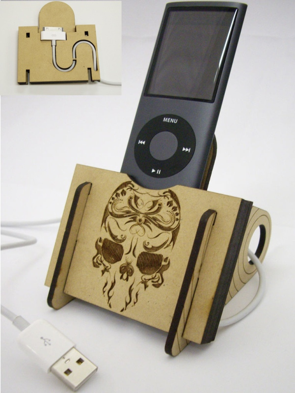 Laser Cut Mobile Stand Free DXF File