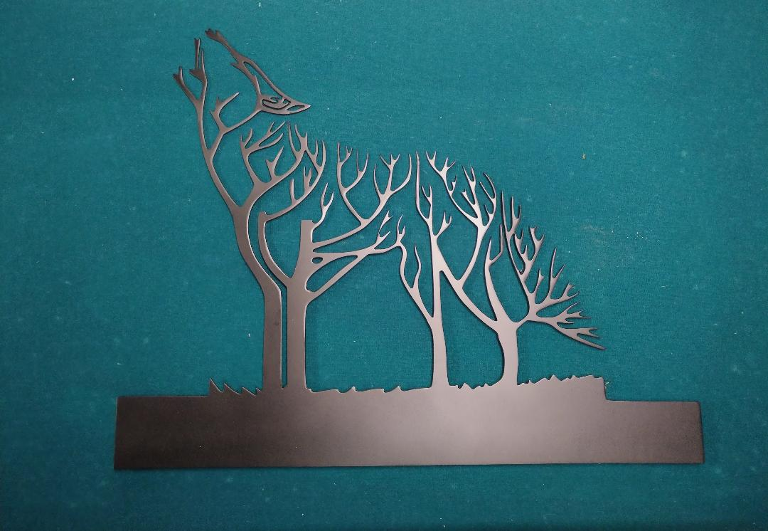 Blank For The Panel Address Plate Weather Vane Wolf Drawings For Laser And Plasma Cutting Free DXF File