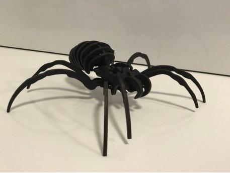 Laser Cut Spider Mockup Free DXF File
