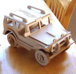 Laser Cut Tiger Bulletproof Vehicle Assembly Model Free CDR Vectors Art