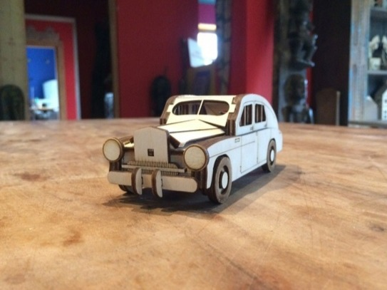 Laser Cut A Layout Of An Old Car Free CDR Vectors Art