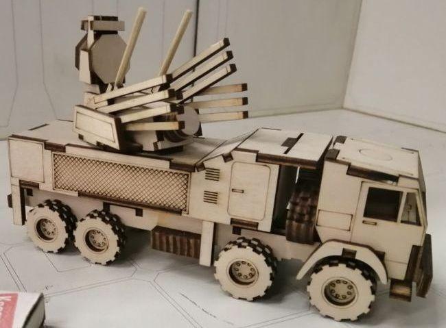 Laser Cut Air Defense Vehicle Free CDR Vectors Art