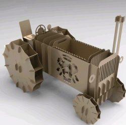 Laser Cut Tractor Model Plasma Free CDR Vectors Art
