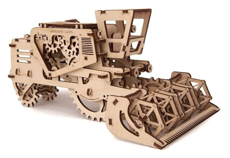Laser Cutting Combine Harvester Layout Free CDR Vectors Art