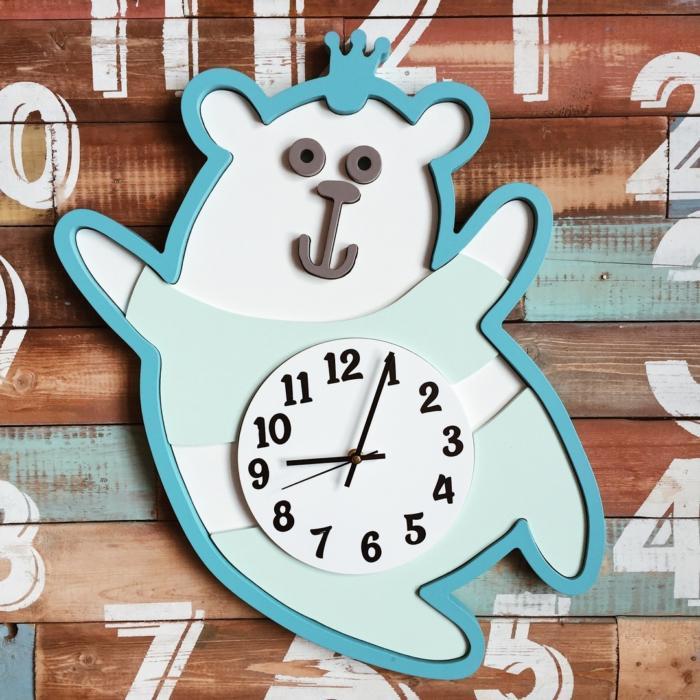 Laser Cut Bear Wall Clock Template Free CDR Vectors Art