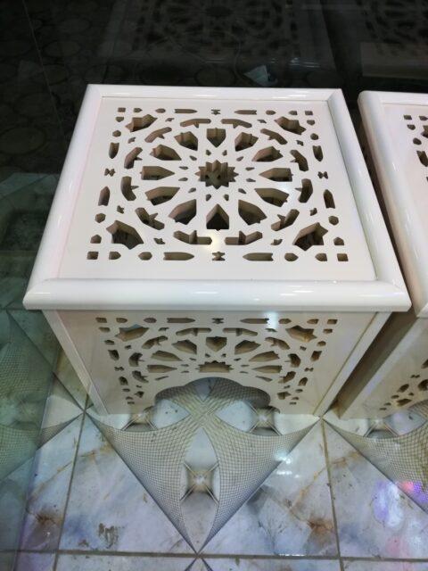 Laser Cut Decorative Stool Side Table Free CDR Vectors Art
