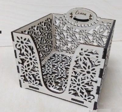Napkin Holder Square Box Laser Cutting Free CDR Vectors Art