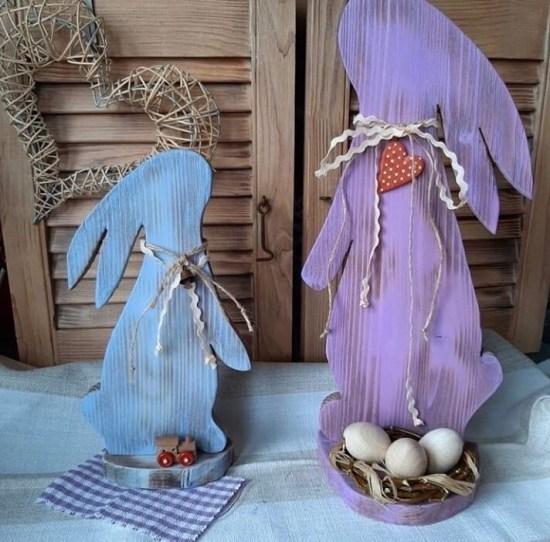Standing Easter Bunny Rabbit Egg Holder Free CDR Vectors Art