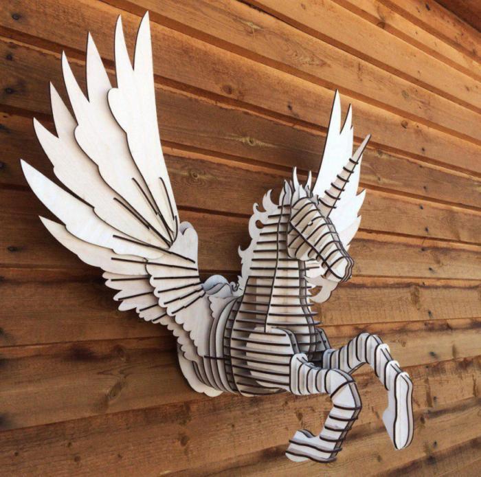 Laser Cut Pegasus Wall Decor Free CDR Vectors Art
