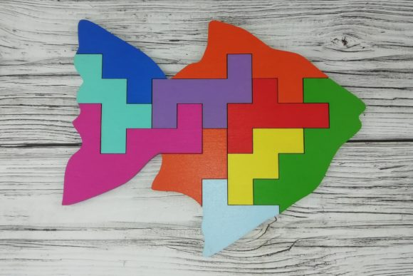 Laser Cut Fish Educational Puzzle Toy For Kids Vector Free PDF File