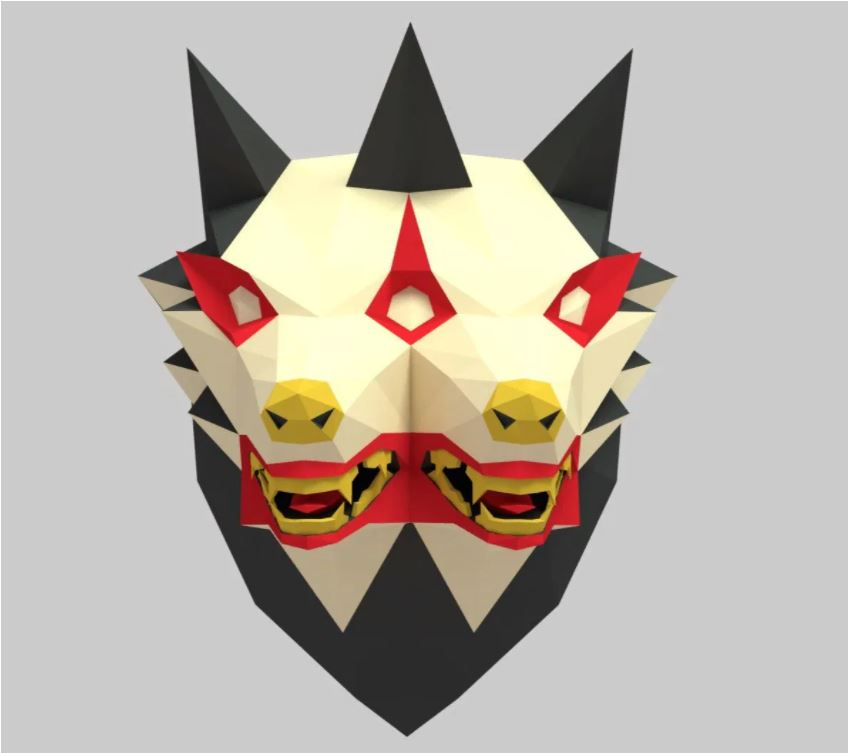 Mutant Dog 3d Paper Craft Template Free PDF File
