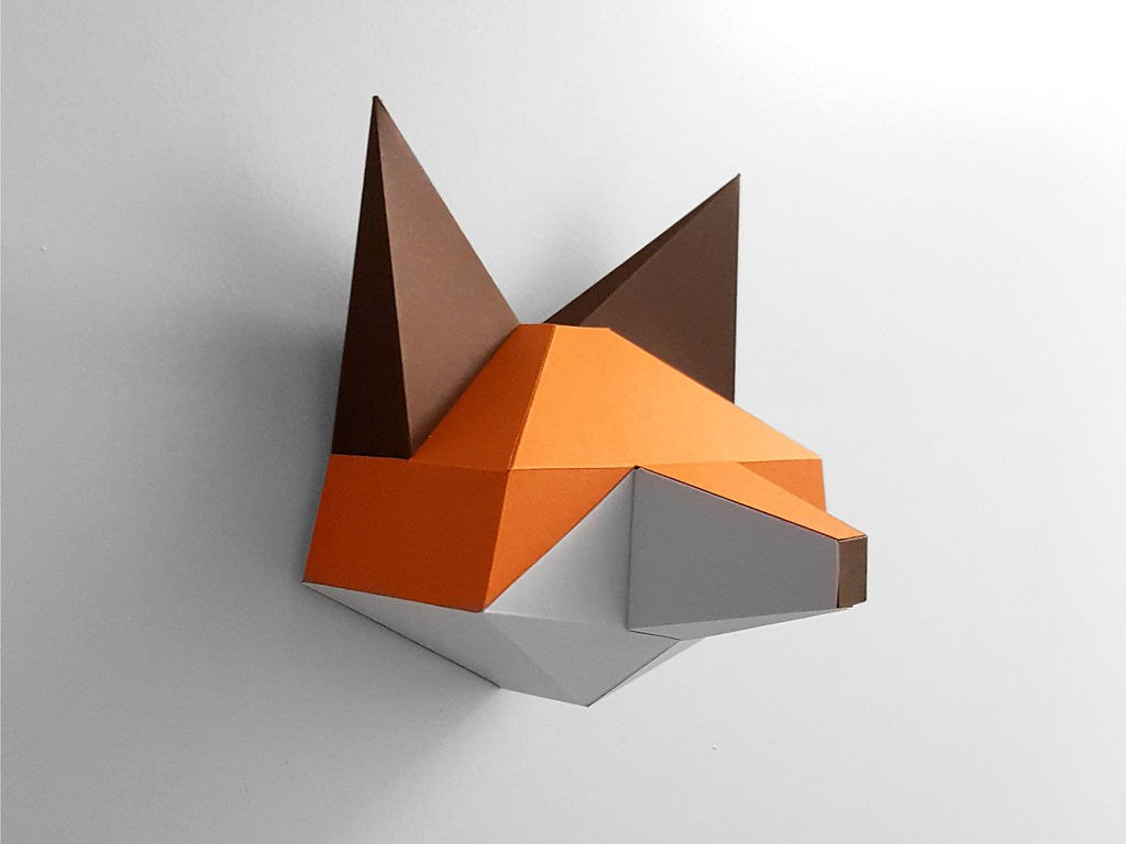 Papercraft Fox Pepakura Pattern Template Free PDF File