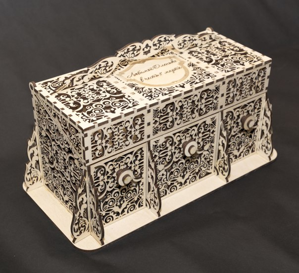 Laser Cut Cnc Files Of Wooden Perfume Box Free CDR Vectors Art