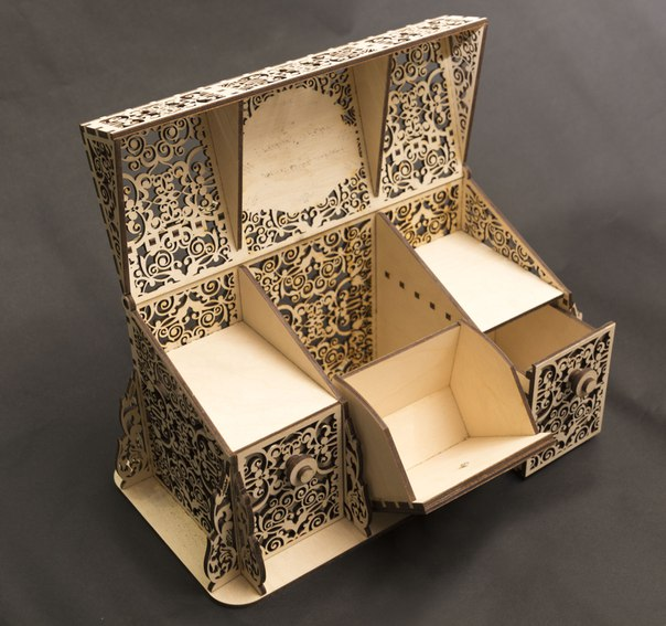 Laser Cut Layout Of Carved Box Free CDR Vectors Art