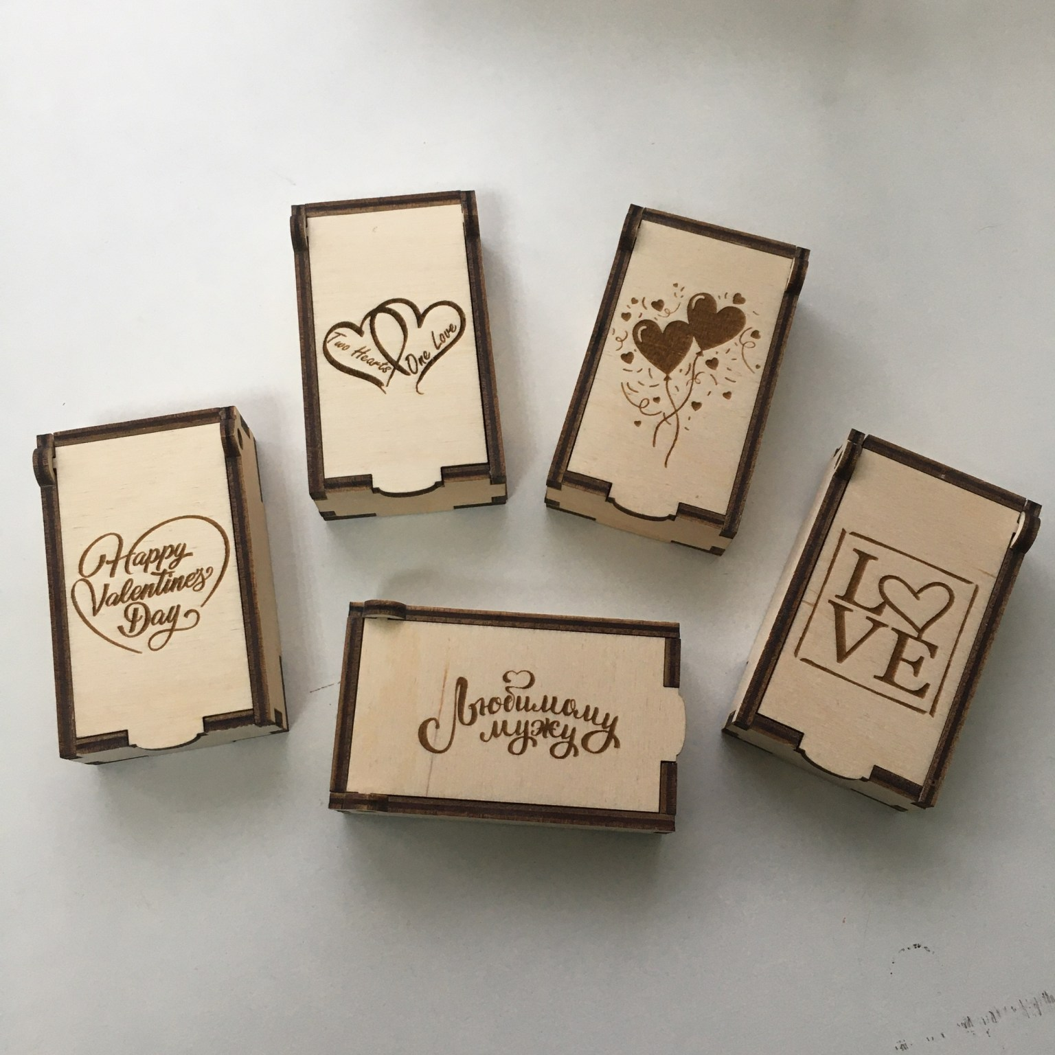 Laser Cut Small Boxes For February 14 Valentines Day For Small Gifts Such As Keychains Free CDR Vectors Art